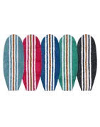 Bathroom rug : Cotton carpet shaped like a surfboard - bathroom carpet or small carpet child room