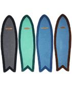 Tapis Surf Fish - tapis en laine en forme de planche de surf 1,70 m