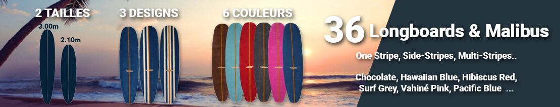 Les differents types de tapis surf disponibles : malibus et longboard tapis design